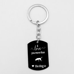 Dog Plates Australia - Suteyi Labrador Dachshund Dog Keychain Stainless Steel Black Pendant Key Ring Gift For Dog Lovers Trendy KeyChain Holder Jewelry