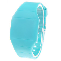 $enCountryForm.capitalKeyWord NZ - Supply low price LED lamp electronic watch ultra-thin touch screen led gift bowl watch