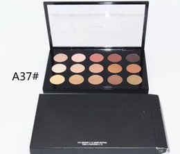 popular makeup palettes UK - 2018 1PCS Factory direct sales of popular major NEW Brand Makeup 15 color eye shadow palette Free shipping