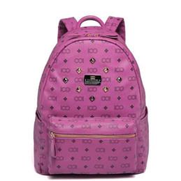 $enCountryForm.capitalKeyWord NZ - Fast Delivery Vintage Women Backpack Pu Leather School Bag For Teenagers Rivet Female Travel Bags Black Bolsos Mujer