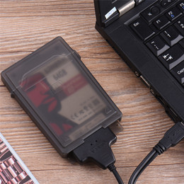$enCountryForm.capitalKeyWord Australia - 2.5inch Hd Externo Flash Drive Case USB 2.0 To SATA Easy to Drive Line USB Hard Disk Cable External Hard Disk Cover Black