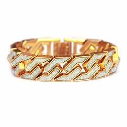 $enCountryForm.capitalKeyWord NZ - Europe and America hiphop style bracelet men fashion cool gold silver plated high quality cheap price Hip-hop rap jewelry bracelet wholesale
