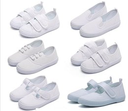 $enCountryForm.capitalKeyWord Canada - Children's School White Shoes Toddler Boys Girls Canvas New 2018 Fashion Sneaker Running Sport Cloth Shoes