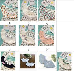 Discount kids embroidered towels - Newborn saliva towel infant bibs baby girls lace embroidered falbala round shape capes shawl babies bandana kids cotton