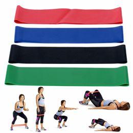 $enCountryForm.capitalKeyWord NZ - 4 Size Set Natural Latex Elastic Loop Resistance Bands Gym Strength Leg Training Fitness Yoga Equipment Exercise Loop Belt