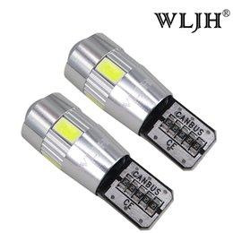 Vente en gros WLJH T10 501 W5W LED Plaque de numéro de plaque d'immatriculation latérale des feux de position arrière erreur interne conduit ampoules 5630 SMD pour Mercedes W203 W211 W204 W205