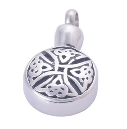 $enCountryForm.capitalKeyWord UK - Wholesale custom memorial pet bone ash box round perfume bottle pendant engraved urn funeral cremation necklace fashion jewelry