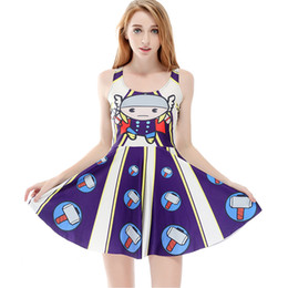 Women Billowing Dress Oil Painting Stripes 3D Print Girl Stretchy Casual  Pleated Parasol Dresses Lady Sleeveless Digital Skirt (RLSkd1164) 249c050b8cdc