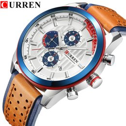Wholesale Chronograph second stop Waterproof Relojios Masculinos stopwatch Man Clock dress watch for men gift free post
