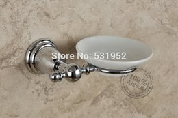 Wholesale Luxury Chrome Plate Brass Soap Rack Dish Wall Mount Soap Dish Holder Soap Dish Bathroom Accessories
