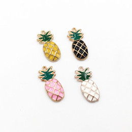 $enCountryForm.capitalKeyWord NZ - 30pcs lot Cute Fashion Jewelry Accessories Tropical Fruits Pineapple Charms Pendants for DIY Women Earrings Jewelry Findings Craft Makings