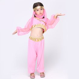 indian costume kids 2019 - 3pcs Kids India Dancewear Children Belly Dance Costumes Egypt Dancing Costume Girl Performance Dancewear Indian Belly Da