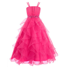 China Elegant Flower Girl Dresses Princess Pageant Formal Prom Gown Ankle Length Wedding Party Dresses suppliers
