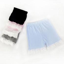 $enCountryForm.capitalKeyWord NZ - candy color lace safety pants cotton safety pants shorts shorts legging girls lace girls short leggings free shippingin stock