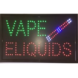 Chinese  2018 hot sale customized led smoke shop vape e-liquids signs neon lights Plastic PVC frame Display indoor size 48cm*25cm manufacturers
