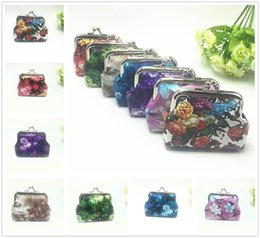 pattern decor NZ - Hot Beautiful Women Flower Pattern PU Wallets Holders Party Home Coin Purses Gifts Decor Free Shipping
