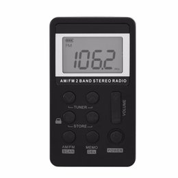 Wholesale Mini AM FM Band Stereo Pocket Radio Receiver with LCD Display and Earphone Rechargeable Battery