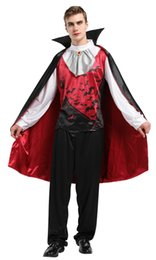 movie vampire costumes Canada - Shanghai Story Carnival Gothic Scary Halloween Costumes for Adult Vampire Cloak Men
