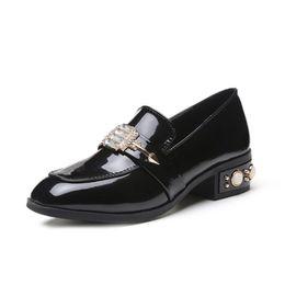 b7cb4741d93 Low Heel Shoes for Women Elegant Wedding Shoes Women Pumps Escarpins Femme  2018 sexy Black Kitten Heels Ladies Bridal Party Lolita Shoes