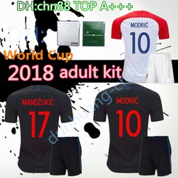 5dfaa5aa462 2018 Designed for Croatia home adult kit Soccer Jersey MODRIC PERISIC  RAKITIC MANDZUKIC SRNA KOVACIC Red KALINIC Hrvatska Football Shirt