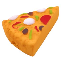Discount pizza gifts - 2018 Squishy Pizza Squeeze Slow Rising Simulation Pizza Relieve Stress Soft Home Decoration Phone Charms Key Chain Kid T