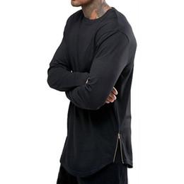 $enCountryForm.capitalKeyWord UK - 2018 New Fashion Trend Mens Long Sleeve T-shirt Hip Hop Black White Casual Cotton Blend Zipper Mens Shirt Luxury Shirt Casual