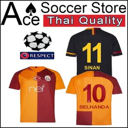 18 19 alatasaray home away SHIRT 2018 2019 CUSTOMIZE soccer jersey 10  BELHANDA 25 FERNANDO 89 FEGHOULI 6 CIGERCI 18 GOMIS football shirts 269333e1a