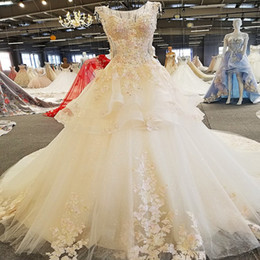China wedding shop online shopping - Off The Shoulder Wedding Dresses Newest Design Classic Lace Gown Real Photos Online Shop China Lace Up Half Sleeve Lace Wedding Dresses
