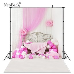 spray painted backdrop 2018 - NeoBack 5x7ft Vinyl Cloth Children Kids Birthday Balloon Photography Backgrounds New Born Baby Photo Studio Backdrops P0