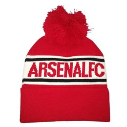 New Arsenal Autumn and winter training hat Fashion Unisex Hats for Men women  Knitted Beanie Juventus Dortmund Gorro AC Arsenal Warm Cap 5e579219a9