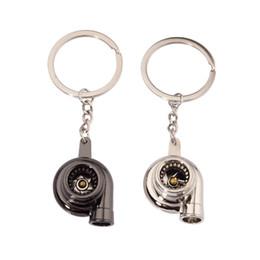Spinning turbocharger online shopping - Dreamlikelin Metal Turbo Keychain Bearing Spinning Auto Part Model Turbine Turbocharger Key Chain Ring
