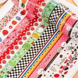 $enCountryForm.capitalKeyWord Australia - 10PCS LOT Mini Color Tape DIY Decorative Adhesive Tape Masking Sticker Cartoon Platic Diary Lace Cinta Adhesiva Decor 2016