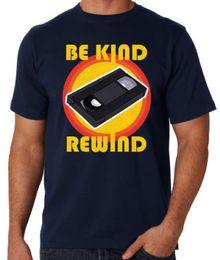 f1b42e18 Be Kind Rewind Video Cassette VHS Retro 80's Movie Rental Mens Blue T Shirt  Cool T-Shirts Designs Best Selling Men