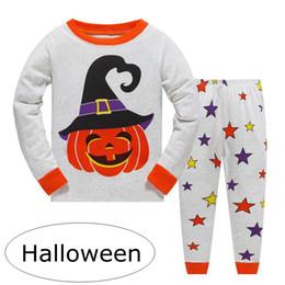 064460a50c ins Halloween baby Boys Robot print Pijamas pjs sets Ropa de dormir para  niños Children Cars Camión de pijamas Girls Loving Cute Pijamas por 2-7 años