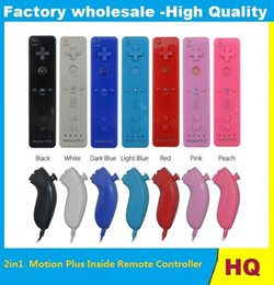 $enCountryForm.capitalKeyWord NZ - High quality Motion 2in1 2 in 1 Built-in Motion Plus Remote & Nunchuck controller Gamepad With Wrist Strap for Wii DHL FEDEX FREE