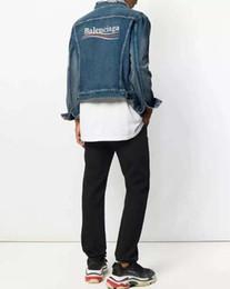 a5faf06316a4 lettera embroid migliore qualità rotto autunno designer di lusso marchio di abbigliamento  giacca di jeans per uomo denim giacche cappotto donna ...