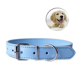 China Fashion 8Colors Pu Leather Pet Dog Collar For Puppy Cat Chihuahua Small Dog Neck Strap Adjustable Size XS S M L Big Sale supplier dog collars for sale suppliers