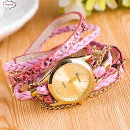 OTOKY 2019 HEIßER Verkauf New Fashion Wrap Um Armband Uhr Kunstleder Kette Uhr DropShiping 18Oct12