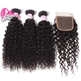 $enCountryForm.capitalKeyWord NZ - Beauty Forever Curly Indian Hair 3 Bundles With Lace Closure High Quality Human Hair Weaves With Closure Wholesale Remy Human Hair Hot Sale