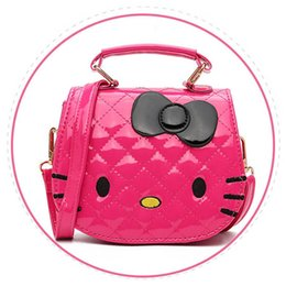 Chinese  2018 New Year Gift Kids Purse Cat Children Cartoon PU leather Bag Crossbody Single Shoulder Bag Handbag Baby Mini Bag manufacturers