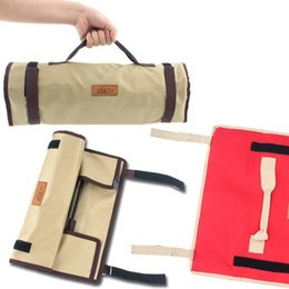 Simple cloth bagS online shopping - Camp Nail Storage Bag Simple Chunky Thicken Tool Pouch With Handle Design Oxford Cloth Bags Without Spare Parts tg B