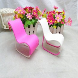 Toy Furniture Wholesale NZ - 2Pcs set Miniature Rocking Beach Lounge Chair Dollhouse Garden Furniture Chair Lovely For Dolls Props Princess Accessorie