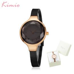 Discount reloj water resistant - Kimio Simple Fashion Bracelet Women Watches Stainless Steel Mesh Belt Waterproof Quartz Wristwatch Ladies Clock Reloj Mu