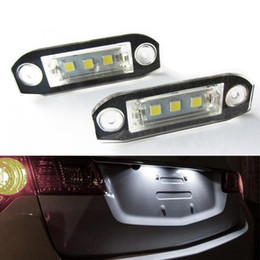 Volvo License Plates NZ - 2Pcs LED Licence Plate Light Number Lamp For Volvo S40 S60 S80 V50 XC60 XC70 XC90 V50 E-marked White