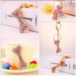 $enCountryForm.capitalKeyWord NZ - Cute Dog Bone Key Chain Sparkling Keychains - Hot Fashion Alloy Bag Charms Keychain - Womens Handbag Pendent Keyring Gift Jewelry