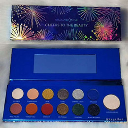 blue eyes eyeshadow colors NZ - Colouredraine Eyeshadow Palette cheers to the beauty 13 colors eye shadow Blue palette high quality dropshipping freeshipping