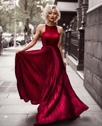7ccfdcc1386e 2018 Burgundy Halter A Line Wrinkles Long Prom Dresses Blake Lively Evening  Gowns Celebrity Dress For Red Carpet Gossip Girl Party Wear