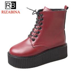 47263d49b3b8 KemeKiss Women High Heel Boots Platform Lace Up Wedges Woman Short Boots  Retro New Design Woman Shoes Footwear Size 35-39