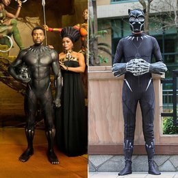$enCountryForm.capitalKeyWord Canada - 2018 Movie Black Panther Costume Superhero Cosplay Black Panther Zentai Suit T'Challa Jumpsuits New
