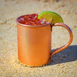 solid copper moscow mule mugs Australia - 420ml Party 100 %Pure Copper Moscow Mule Mug 14oz Solid Smooth Without Inside Liner For Cocktail Coffee Beer Milk Water